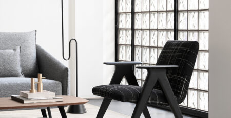 Stua Libera Armchair In Black And White Giulia 102