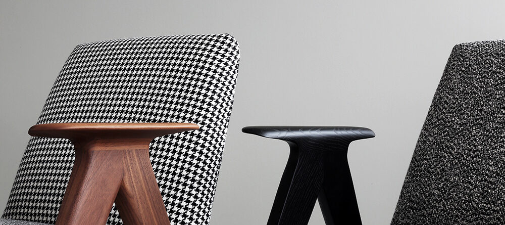 Stua Libera Armchair In Left Mambo 260 Right Gioia 112 Fabric